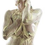 Corinne R in una posa di bodypainting