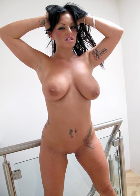 Kerry Katona Tanning Topless On A Beach