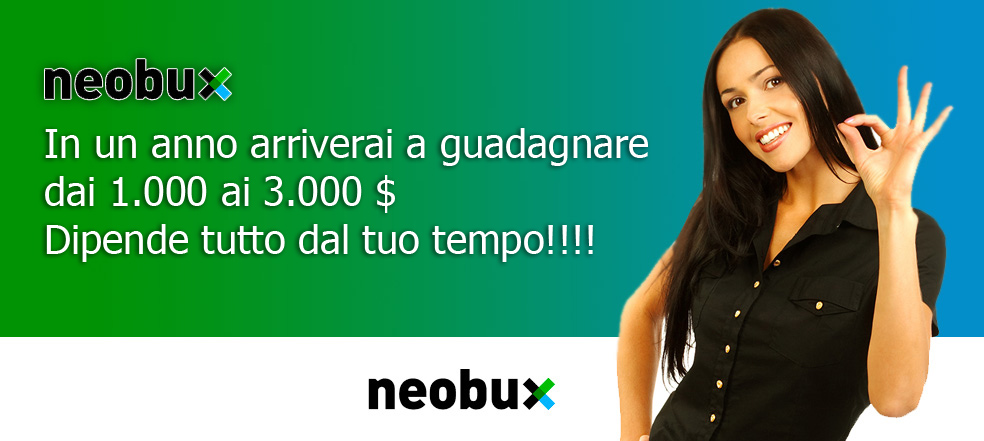 Neobux PTC che paga sicura al 100%